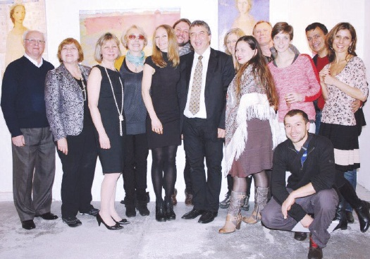 Photo above – Opening of Kateryna Kosianenko's exhibition at the Dominican Art Gallery with Kateryna Kosianenko, centre-left and Natalia Burianyk, third from left.