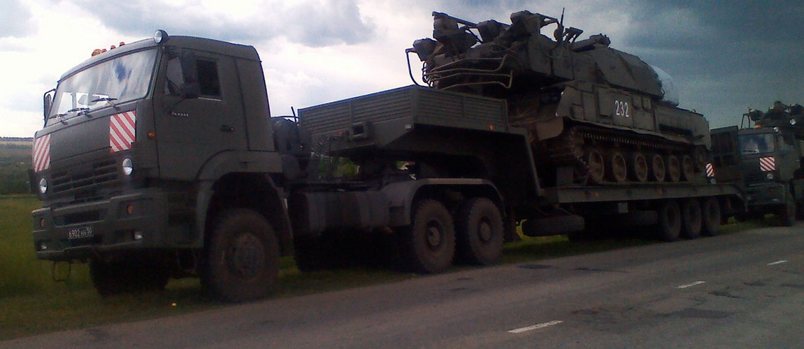 BUK Surface-to-Air Missile Launcher enroute from Kursk Russia to Ukraine