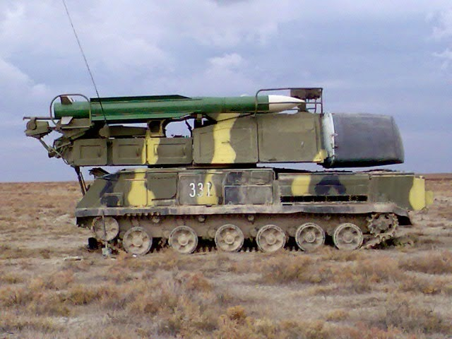 BUK Surface-to-Air Missile Launcher from the Russian 53rd Air Defence Brigade based in Kursk, Russia